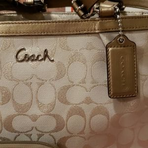 Coach Bags - Coach Gallery Lurex Metallic Bag and Wristlet